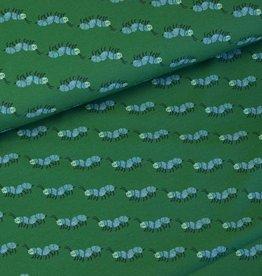 Swafing Tricot katoen Krabbelkrabbel groen