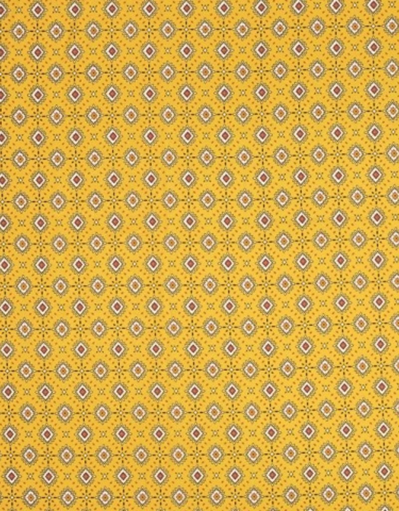Crepe georgette print check yellow