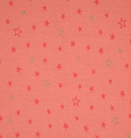 Swafing Jacquard tricot mateo stars zalmroze glitter