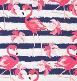 Swafing Tricot Luke flamingo stripes