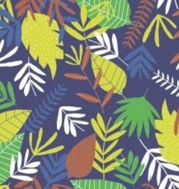 Katia Poplin jungle leaves