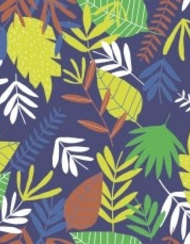 Katia Poplin jungle leaves