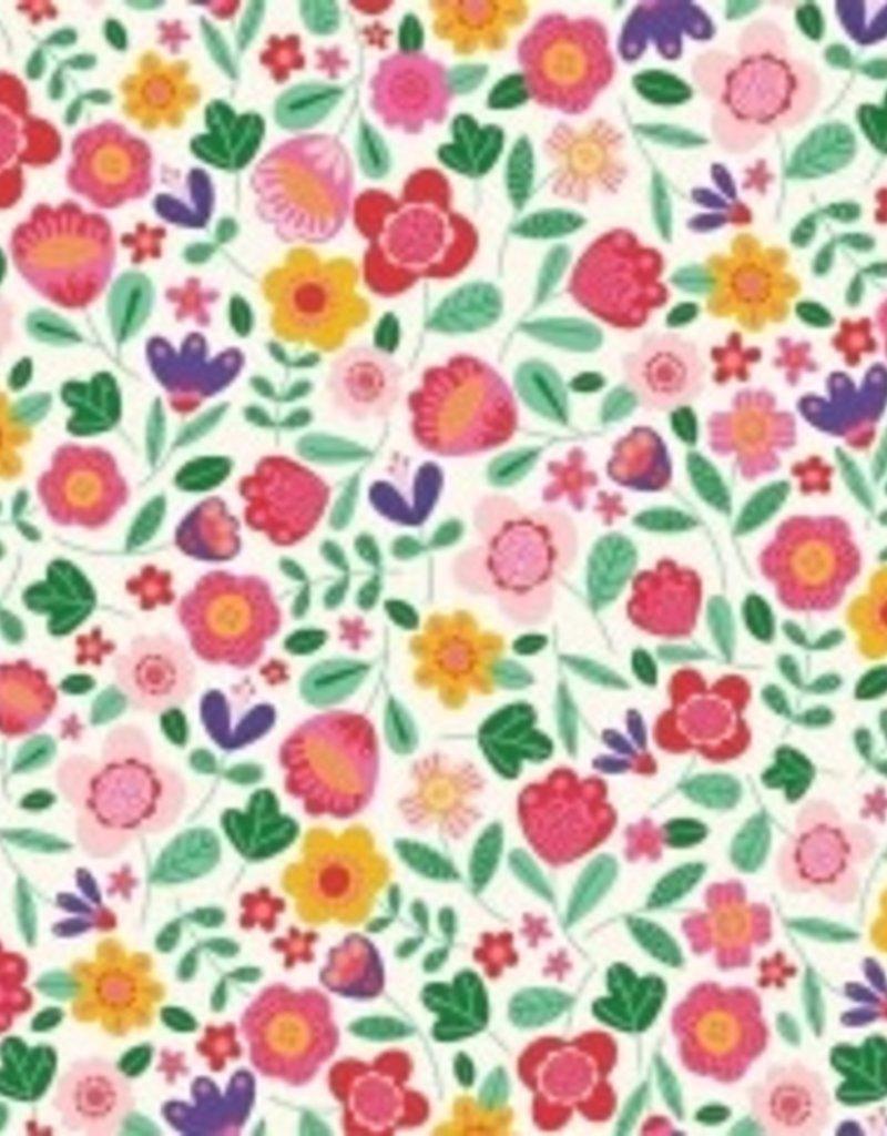 Katia Poplin Frida floral