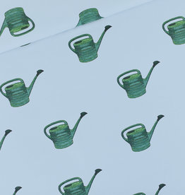 See You at Six French Terry Watering Cans - Mistblauw
