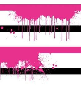 Tricot neon splash stripes roze