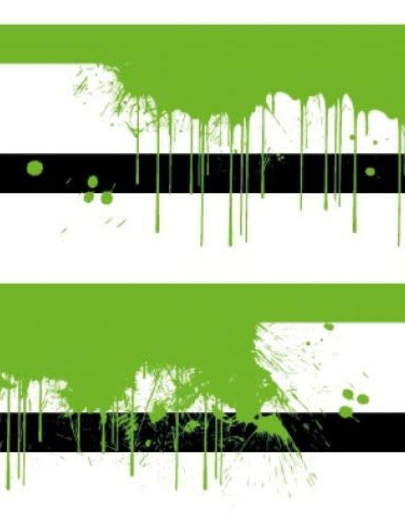 Tricot neon splash stripes groen