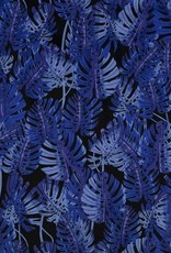 *Cotton satin leaves blue