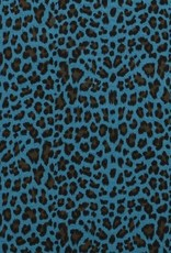 Double gauze leopard blauw