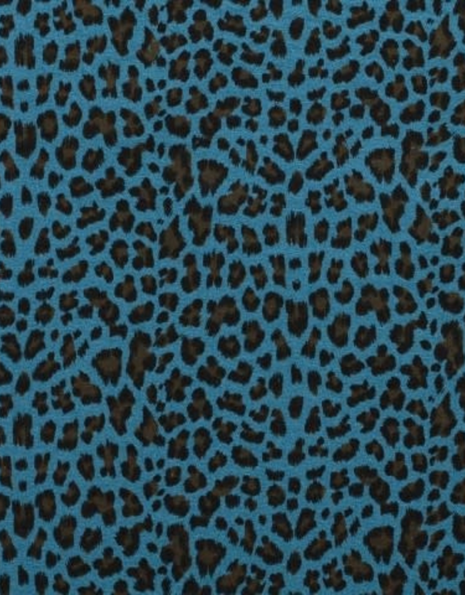 *Double gauze leopard blauw