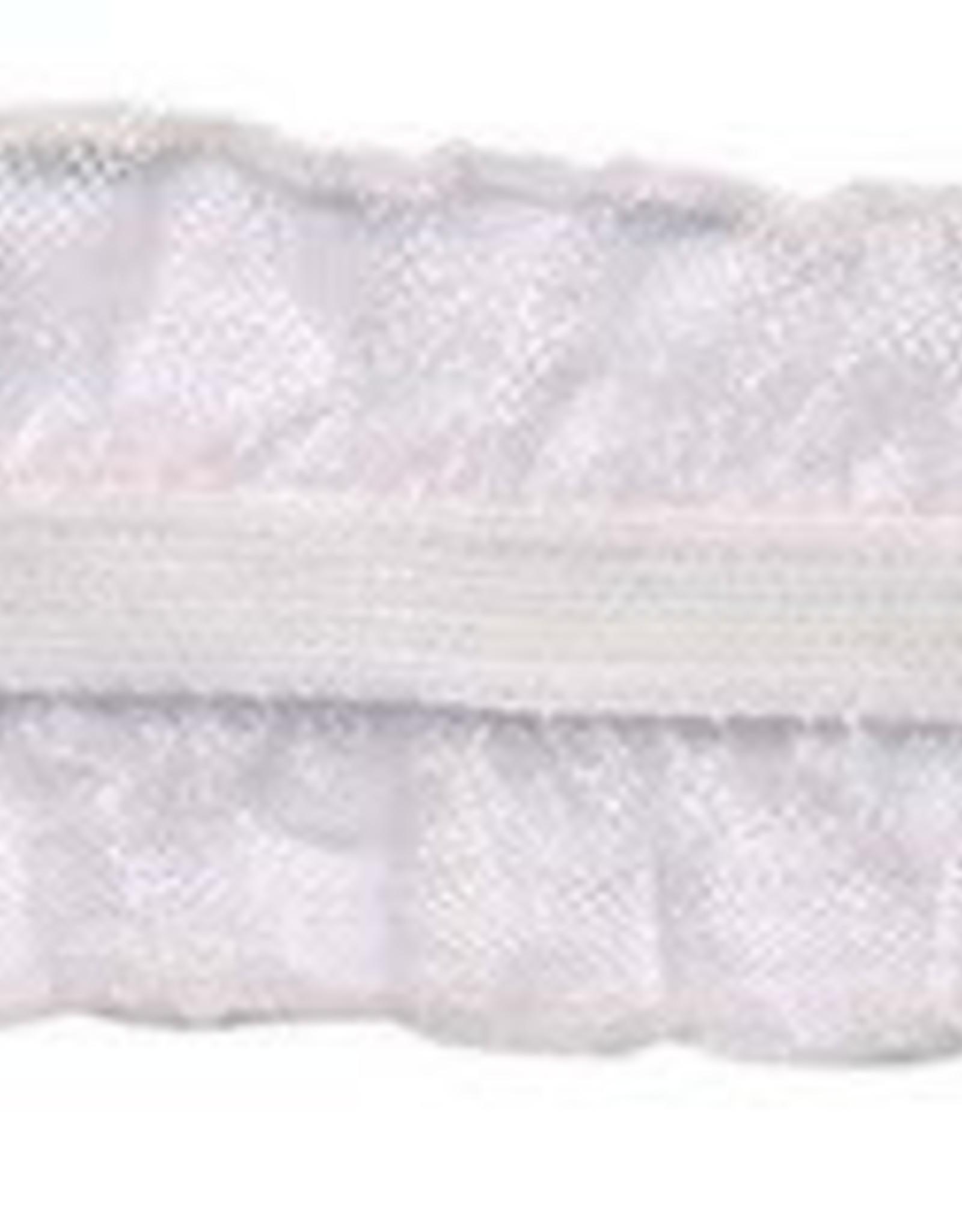 Roezel elastiek 2-zijdig wit 25 mm