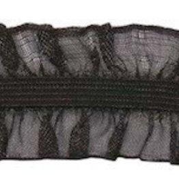 Roezel elastiek 2-zijdig zwart 25 mm