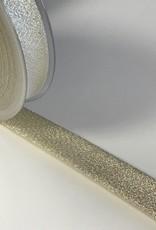 Biaisband 20mm gevouwen goud glitter