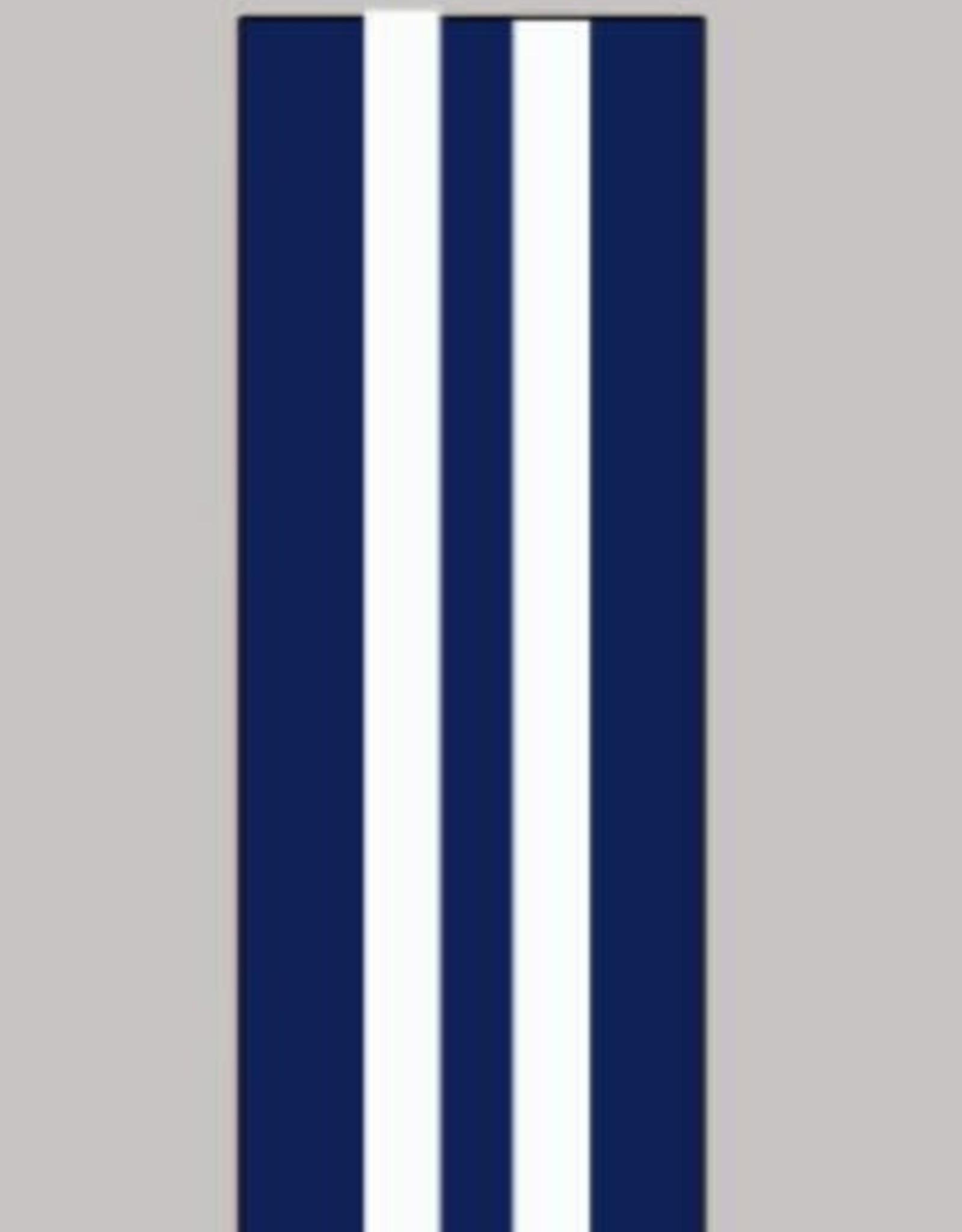 Oaki Doki Galloon trim 30mm 2*125cm bl wit stripe12007