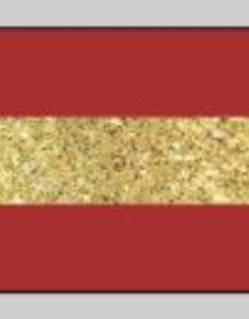 Oaki Doki Galloon trim 30mm 2*125cm red gold stripe 12033