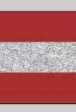 Oaki Doki Galloon trim 30mm 2*125cm red zilv stripe 12025