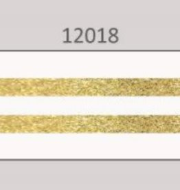 Oaki Doki Galloon trim 30mm 2*125cm wit gold stripe 12018