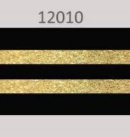 Oaki Doki Galloon trim 30mm 2*125cm zw gold stripe 12010