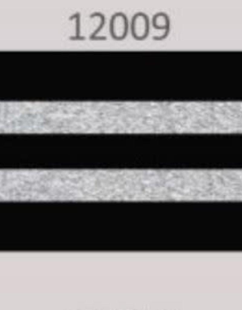 Oaki Doki Galloon trim 30mm 2*125cm zw silv stripe 12009