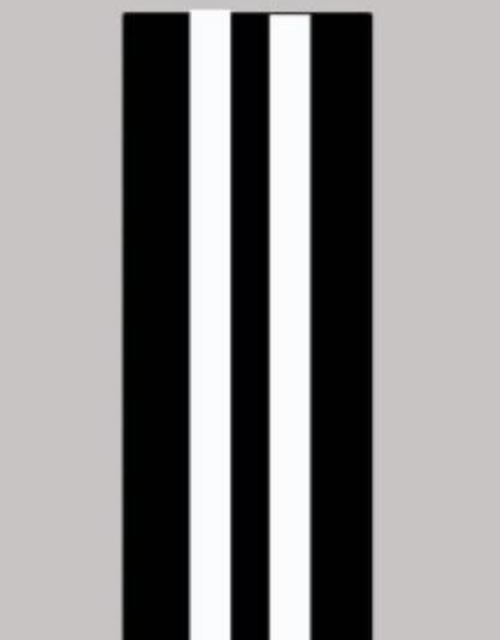 Oaki Doki Galloon trim 30mm 2*125cm zw wit stripe 12005
