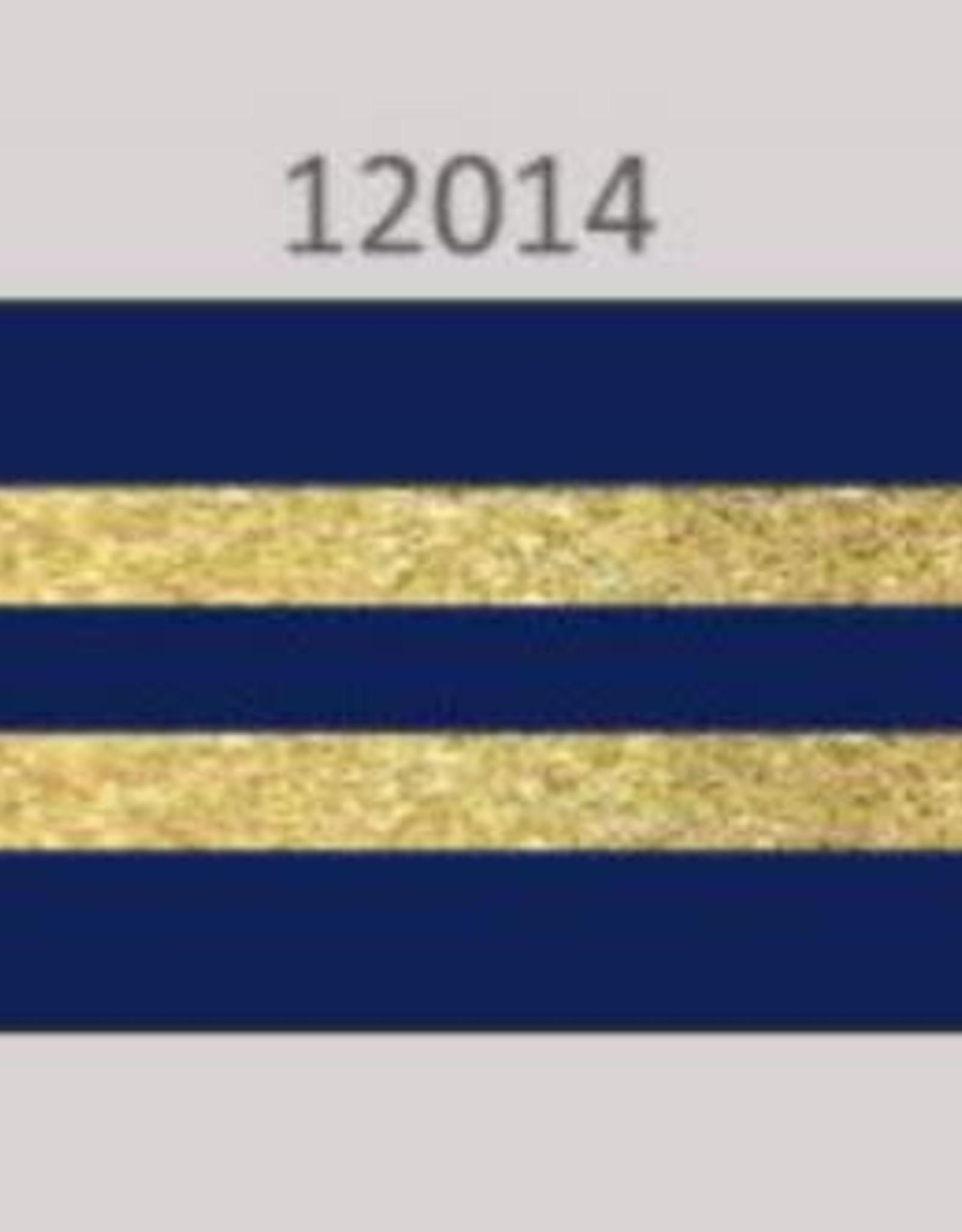 Oaki Doki Galloon trim 30mm 2*125cm bl gold stripe 12014