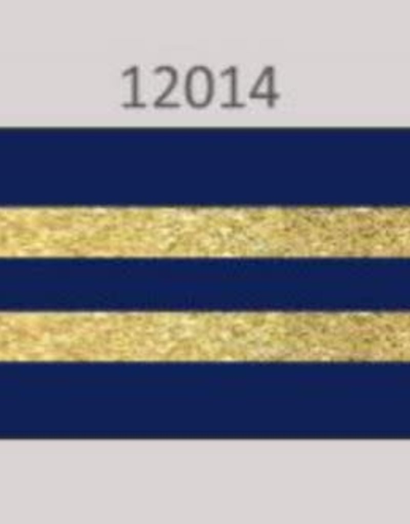 Oaki Doki Galloon trim 30mm 2*125cm bl gold stripe 12014