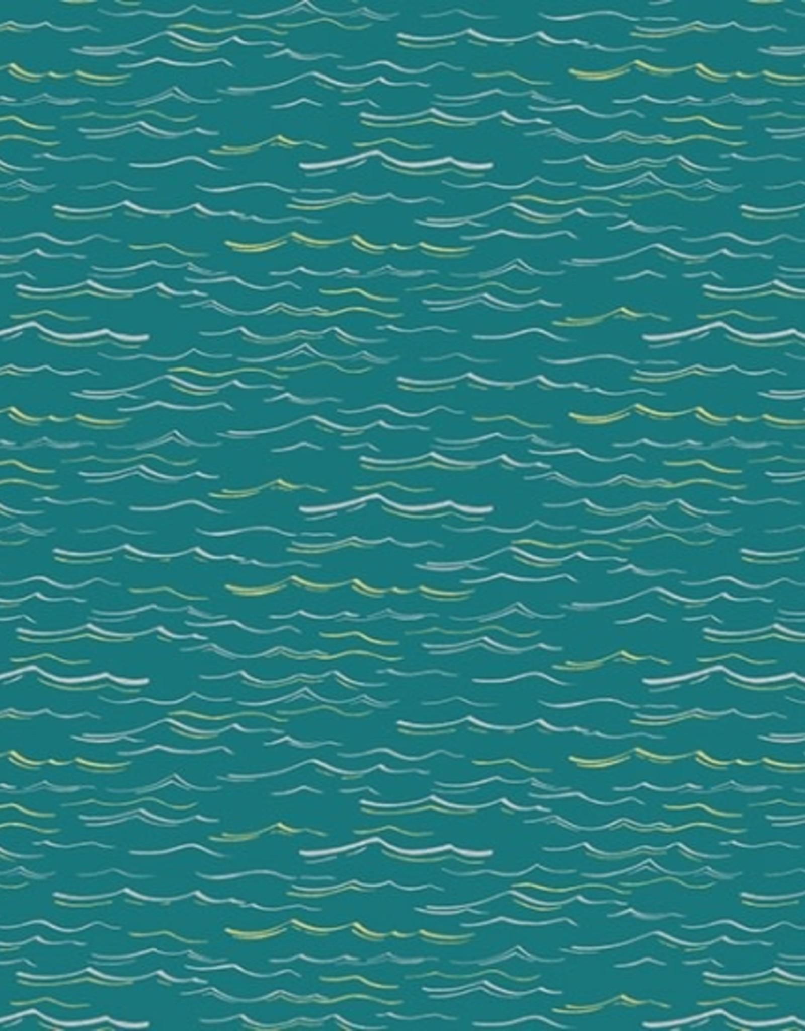 Hoffman Katoen waves teal/metallic