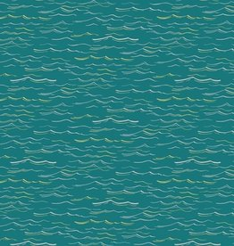 Hoffman *Katoen waves teal/metallic