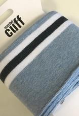 Cuffs strepen blauw wit navy 135*7cm