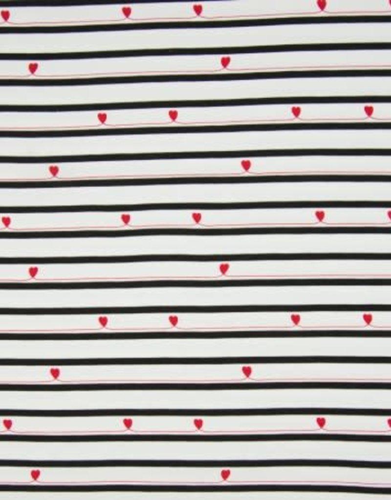 Qjutie Tricot katoen stripes heart