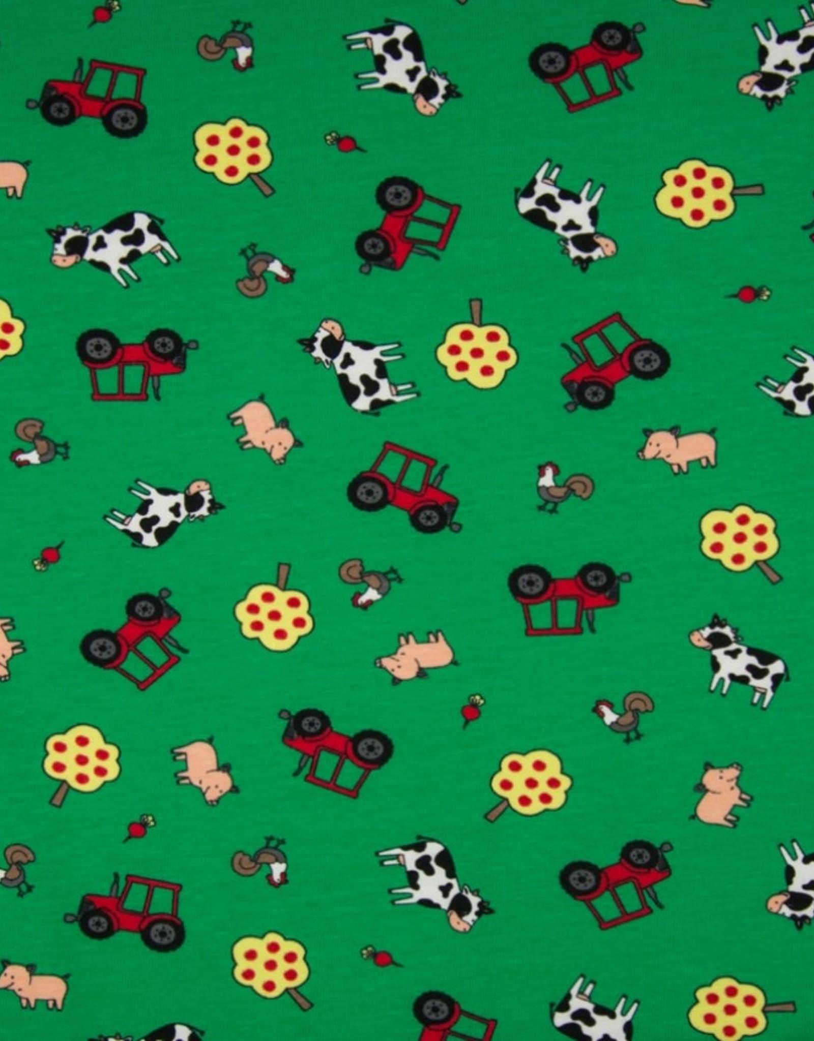 Qjutie Tricot katoen boerderij groen