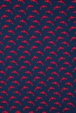 Qjutie Tricot katoen dolfijn navy