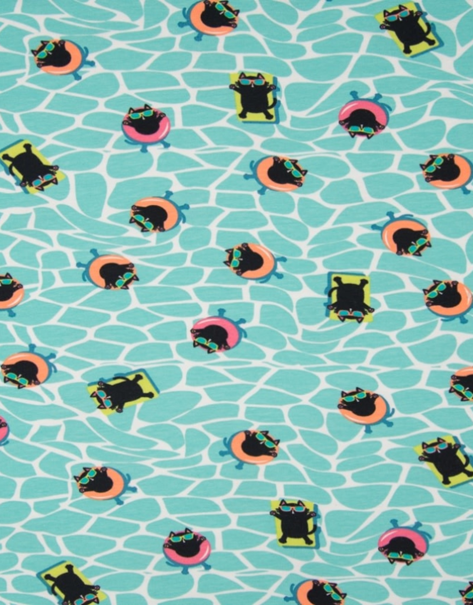 Qjutie *Tricot katoen swimming cat