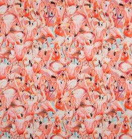 Qjutie Tricot katoen digital flamingo
