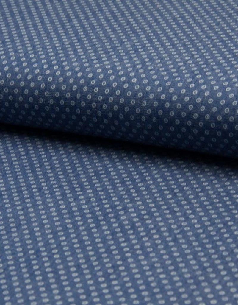 Cotton jeans dots blue
