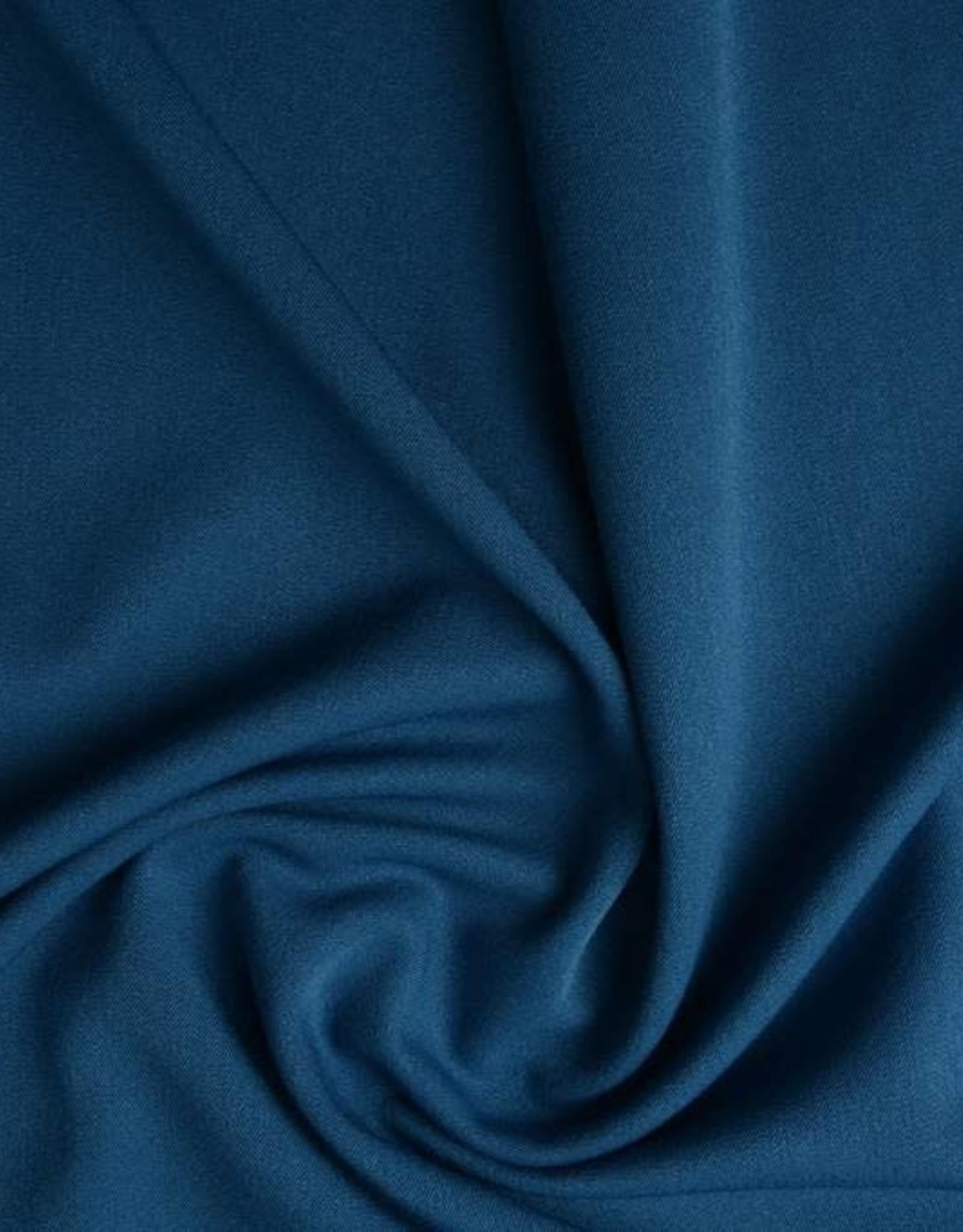 Stretch gabardine jeansblauw