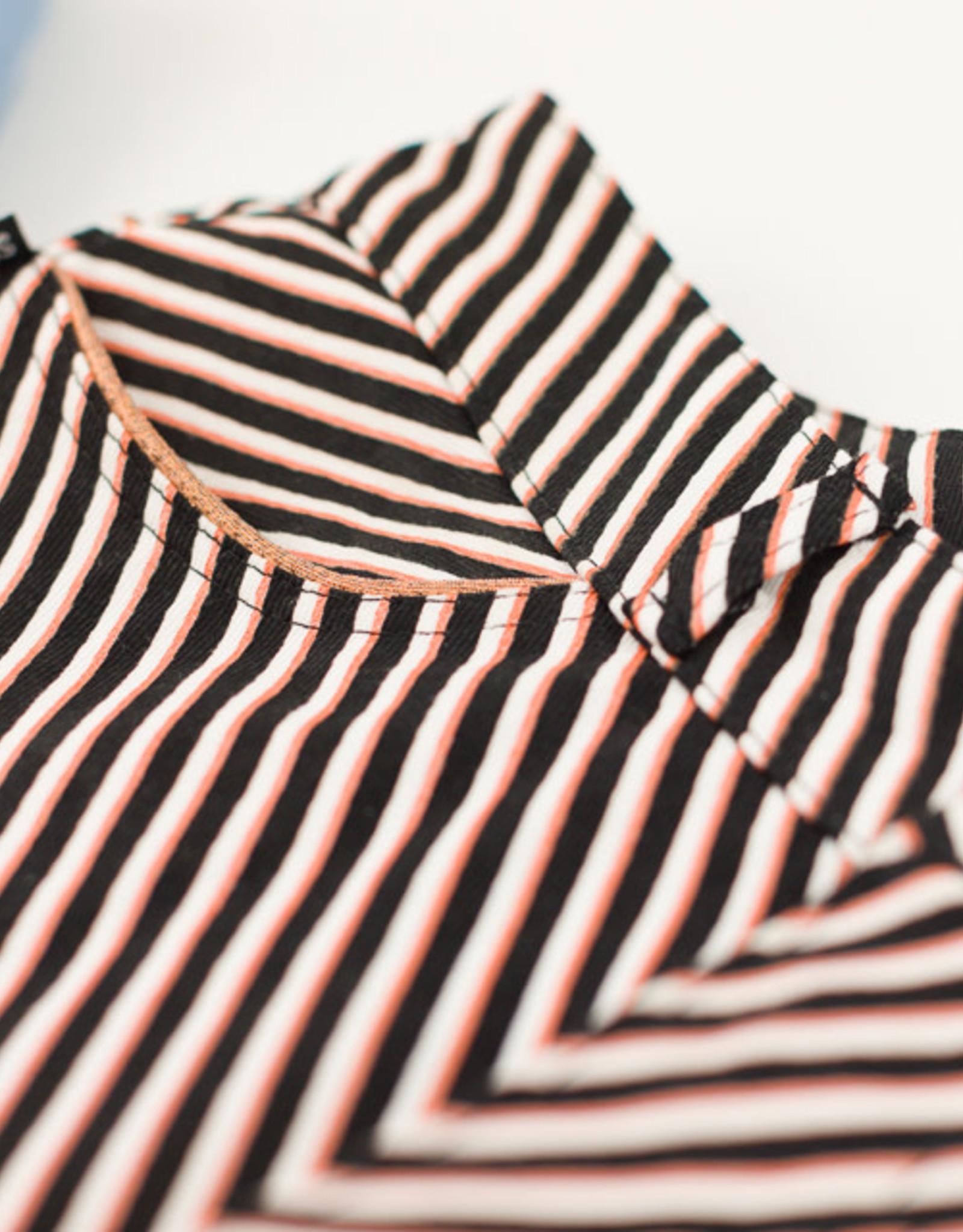 See You at Six Diagonals - M - Katoen Canvas Gabardine Twill - Zwart & Wit & Koper - R