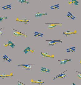 Poppy COUPON Katoen in the air grijs 70*150cm