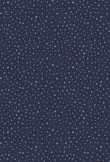 Poppy Tricot katoen glitter dots blauw