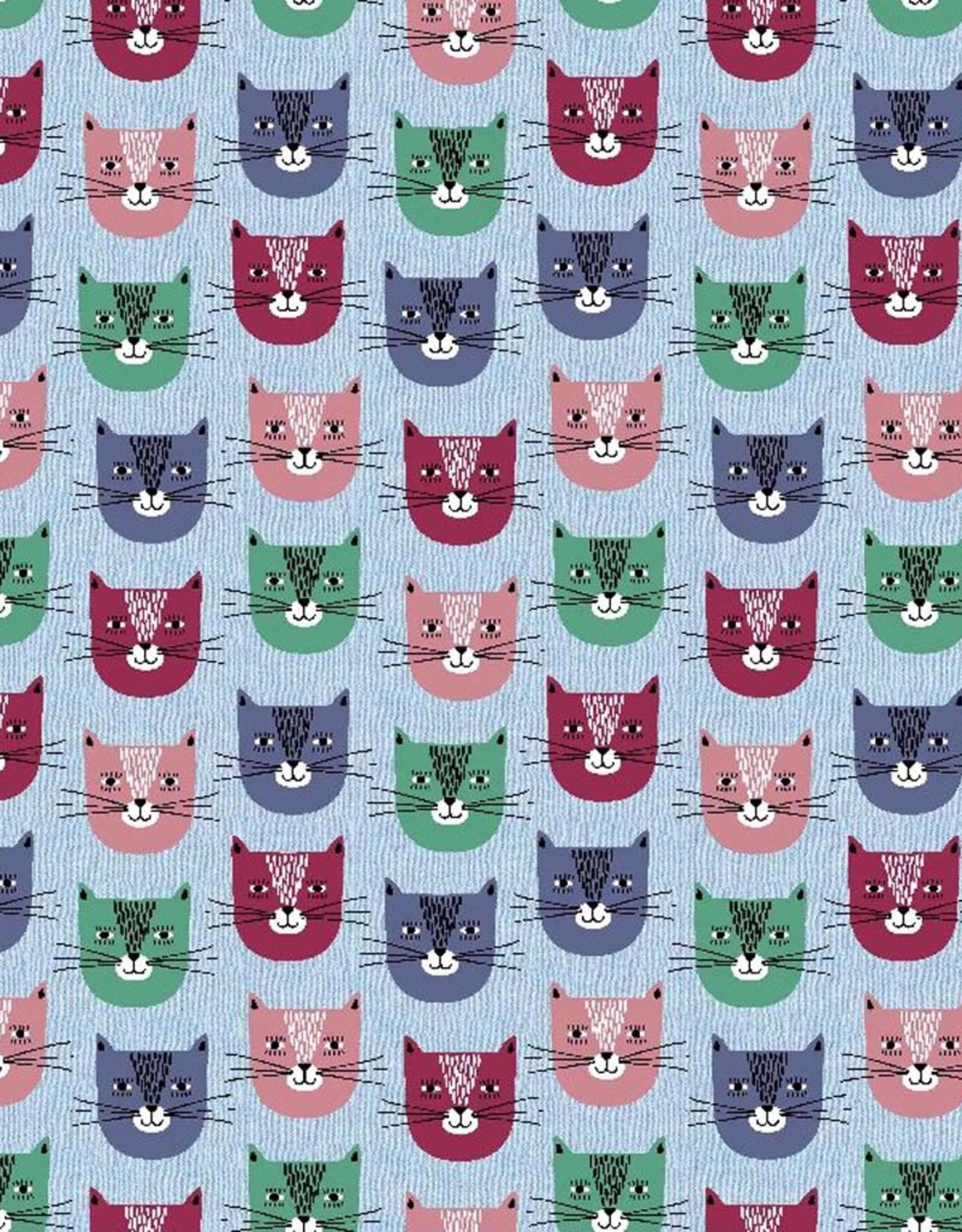 Poppy Sweat smiley cat blauw