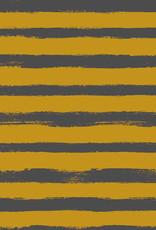 Poppy Sweat groovy stripes oker