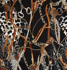 Viscose twill chains black brown