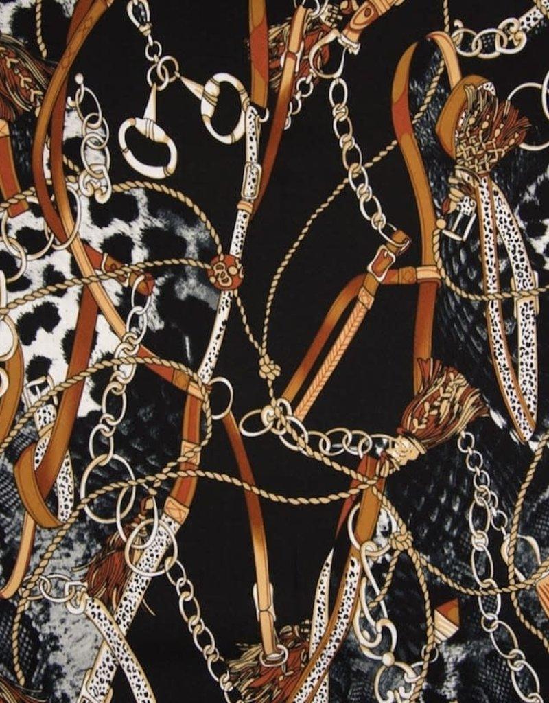 Viscose twill chains black brown