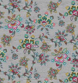 Poppy Polyester katoen completely paisley