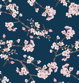 Poppy Modal tricot blossom blauw