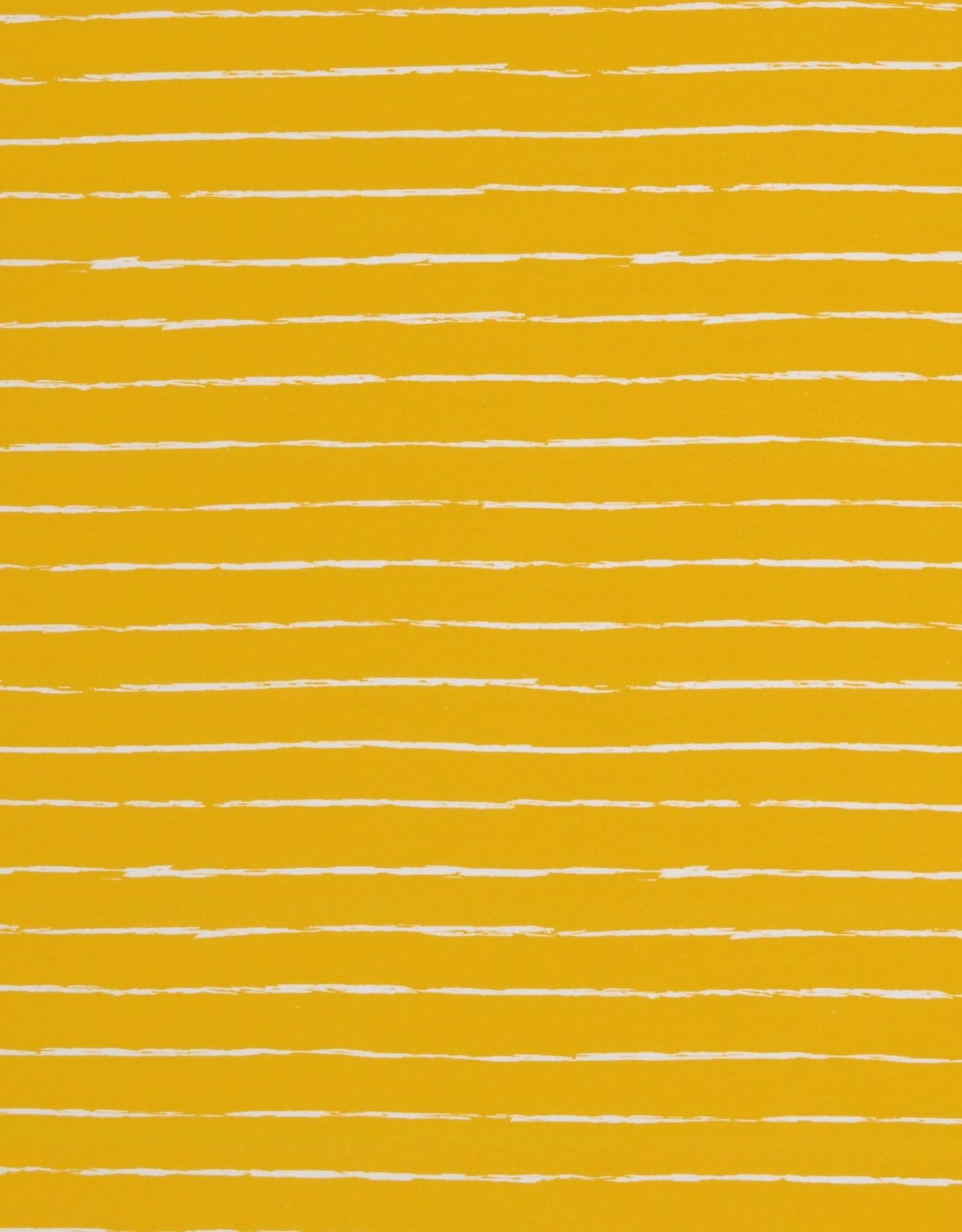 Swafing Tricot katoen crayon by Lila-Lotta oker
