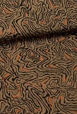 Fibre Mood Katoen lijnenspel oranje