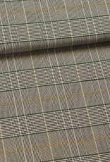 Fibre Mood Polyester Viscose ruiten grijs