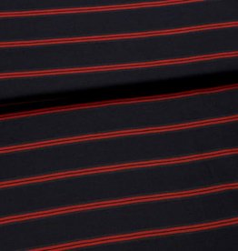 Fibre Mood Viscose mix stripes navy rood