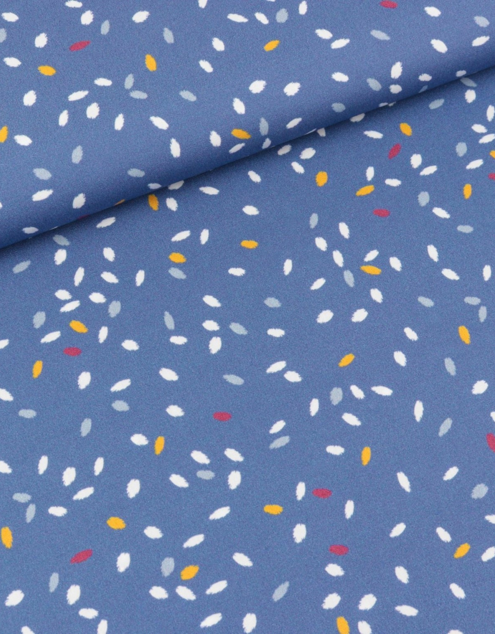 Swafing COUPON Katoen collectivity by Lila-Lotta blue 60*140cm