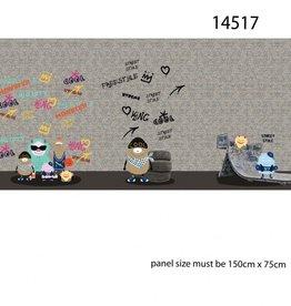 Stenzo French Terry panel graffiti grijs